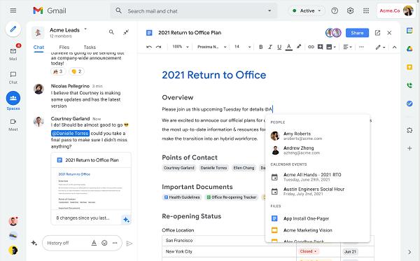 Google Workspace được cập nhật dành cho tất cả mọi người