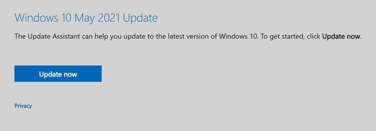 Cách cập nhật Win 10 bản Windows 10 21H1 mới nhất