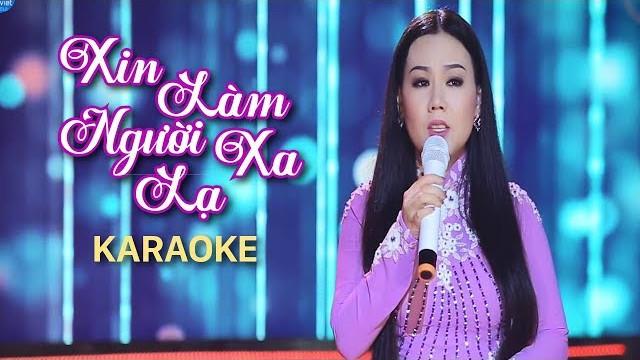 Xin Làm Người Xa Lạ - Lưu Ánh Loan - Karaoke