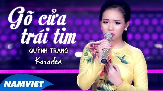 Gõ Cửa Trái Tim - Quỳnh Trang - Karaoke