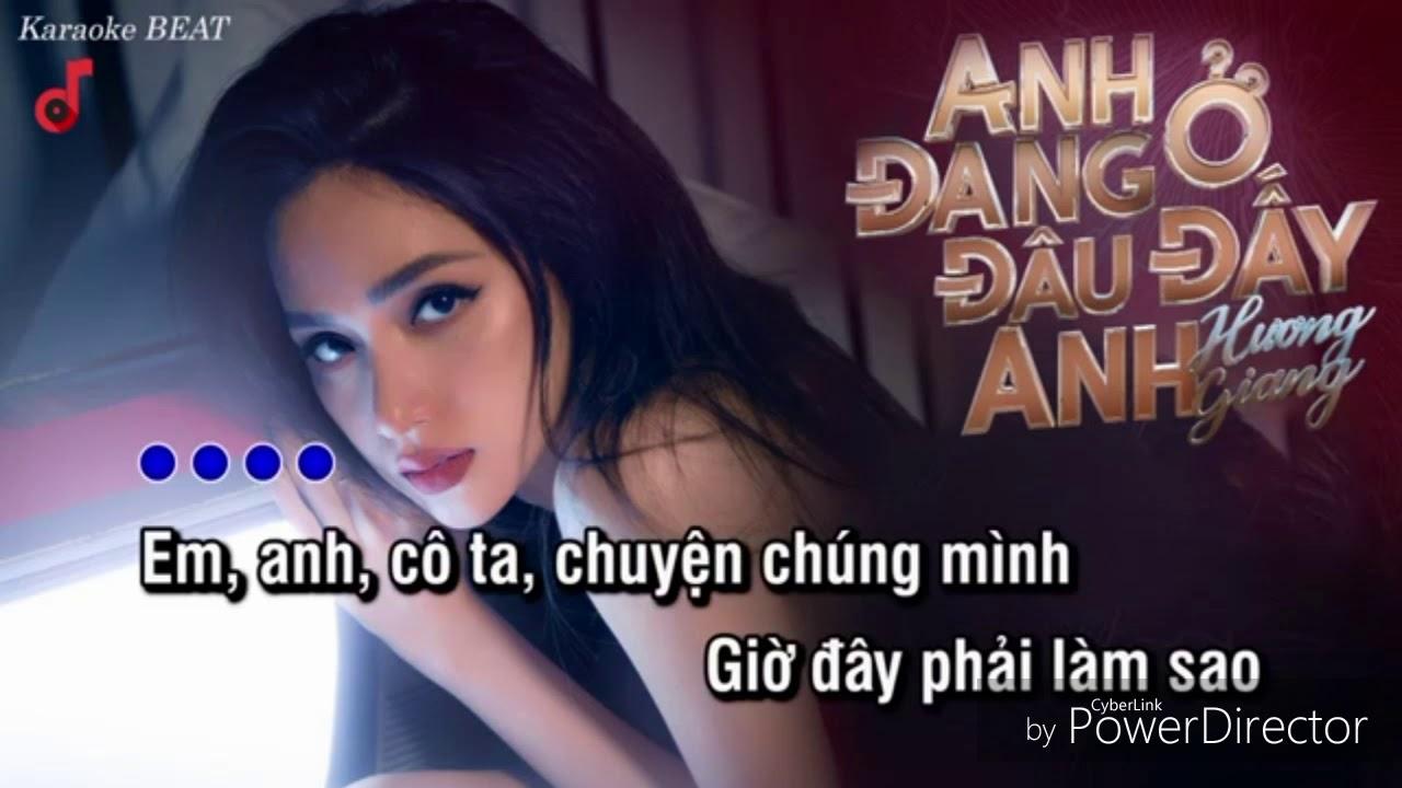 Anh Đang Ở Đâu Đấy Anh (ADODDA) - Hương Giang - Karaoke