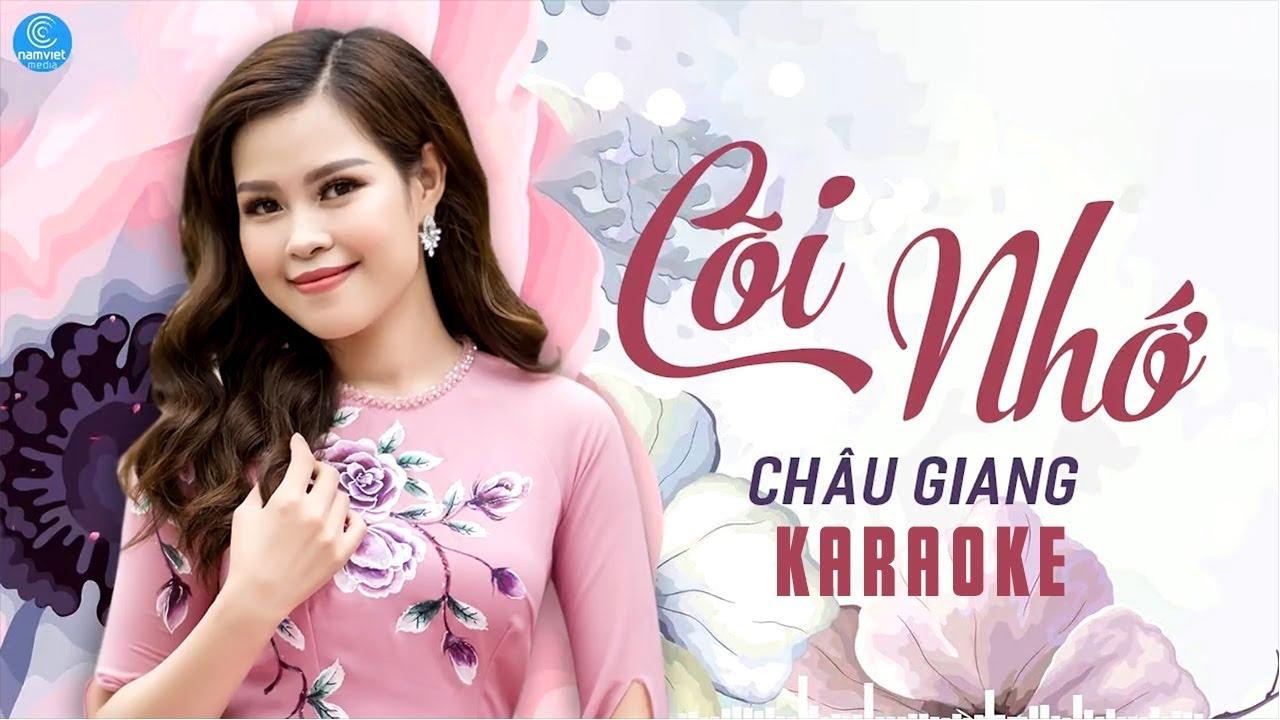 Cõi Nhớ - Châu Giang - Karaoke