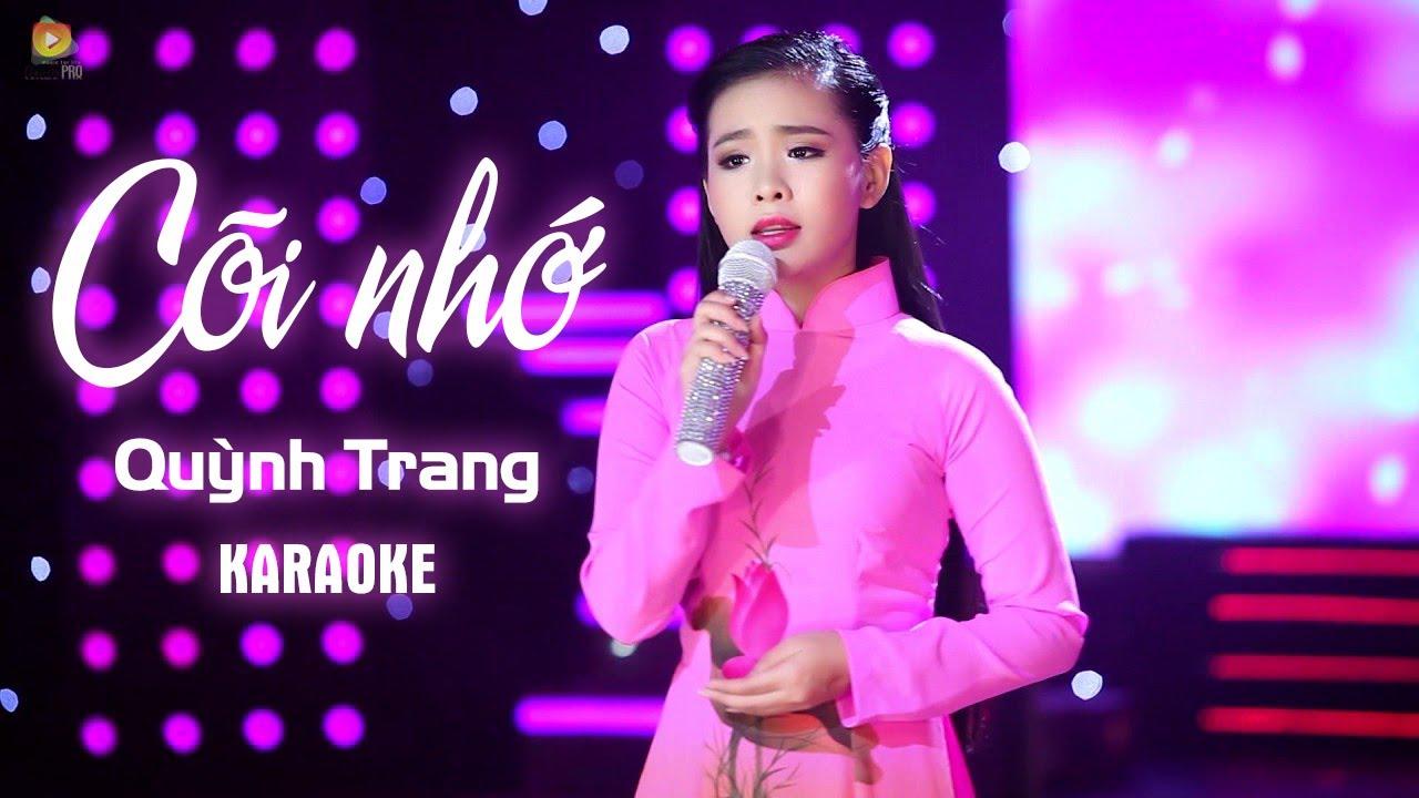 Cõi Nhớ - Quỳnh Trang - Karaoke