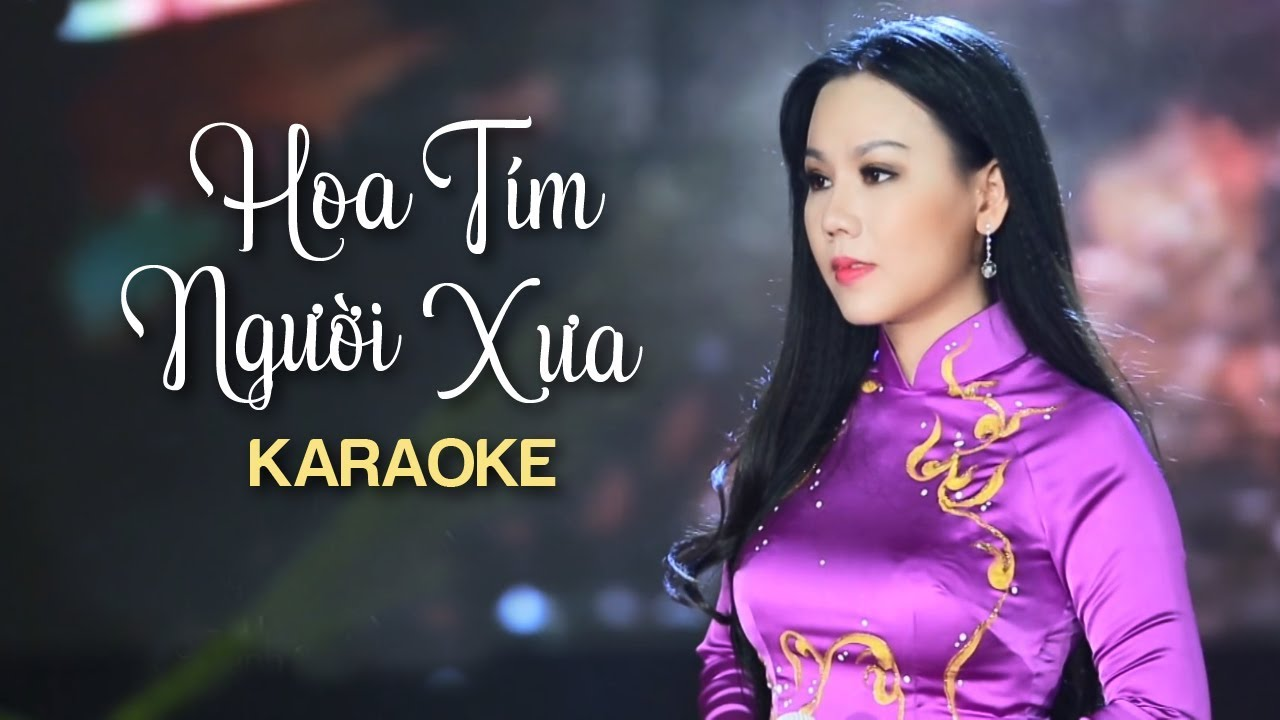 Hoa Tím Người Xưa - Lưu Ánh Loan - Karaoke