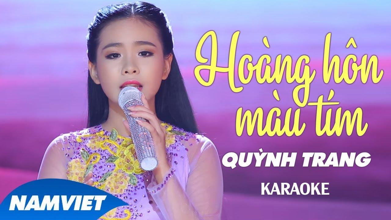 Hoàng Hôn Màu Tím - Quỳnh Trang - Karaoke