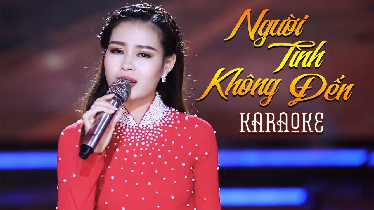 Người Tình Không Đến - Châu Giang - Karaoke