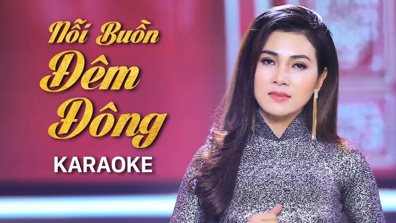 Nỗi Buồn Đêm Đông - Diễm Thùy - Karaoke