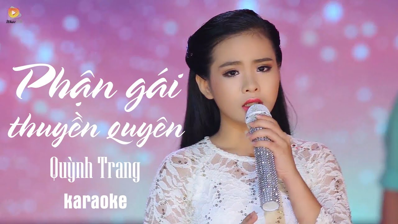 Phận Gái Thuyền Quyên - Quỳnh Trang - Karaoke