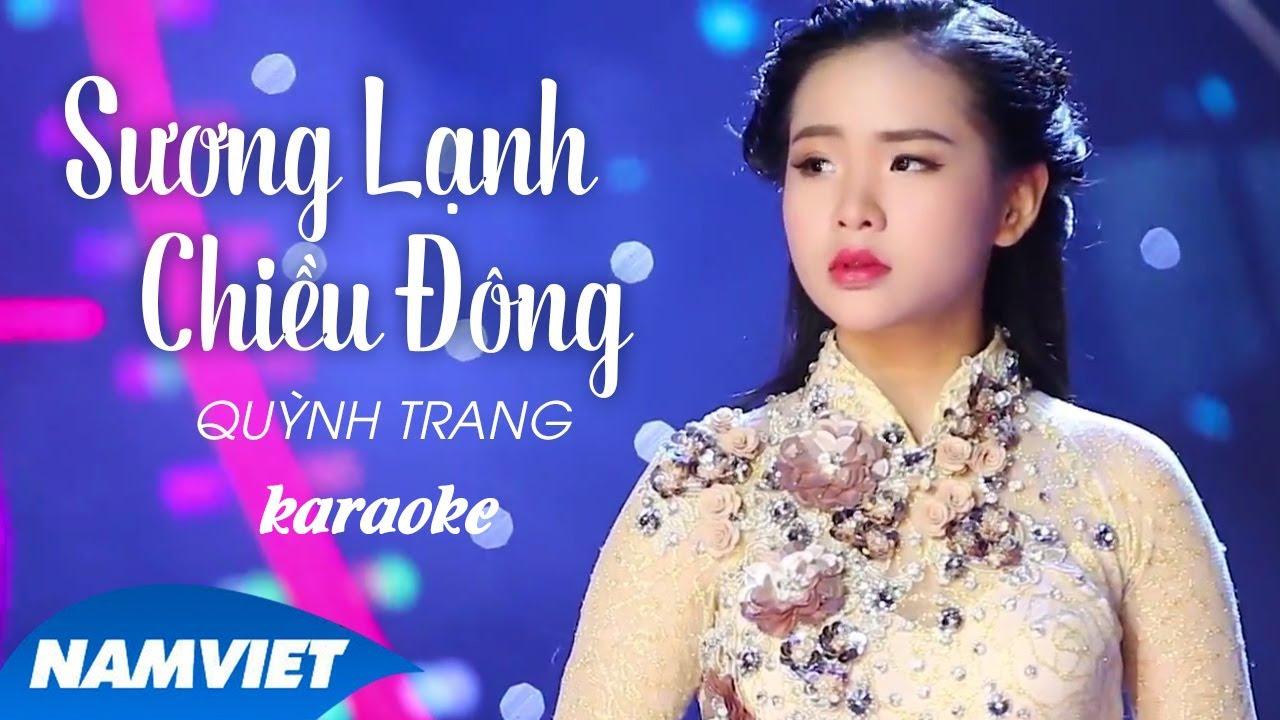 Sương Lạnh Chiều Đông - Quỳnh Trang - Karaoke