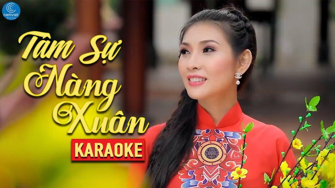 Tâm Sự Nàng Xuân - Mai Lệ Quyên - Karaoke