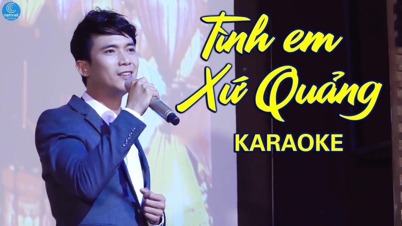 Tình Em Xứ Quảng - Lê Sang - Karaoke