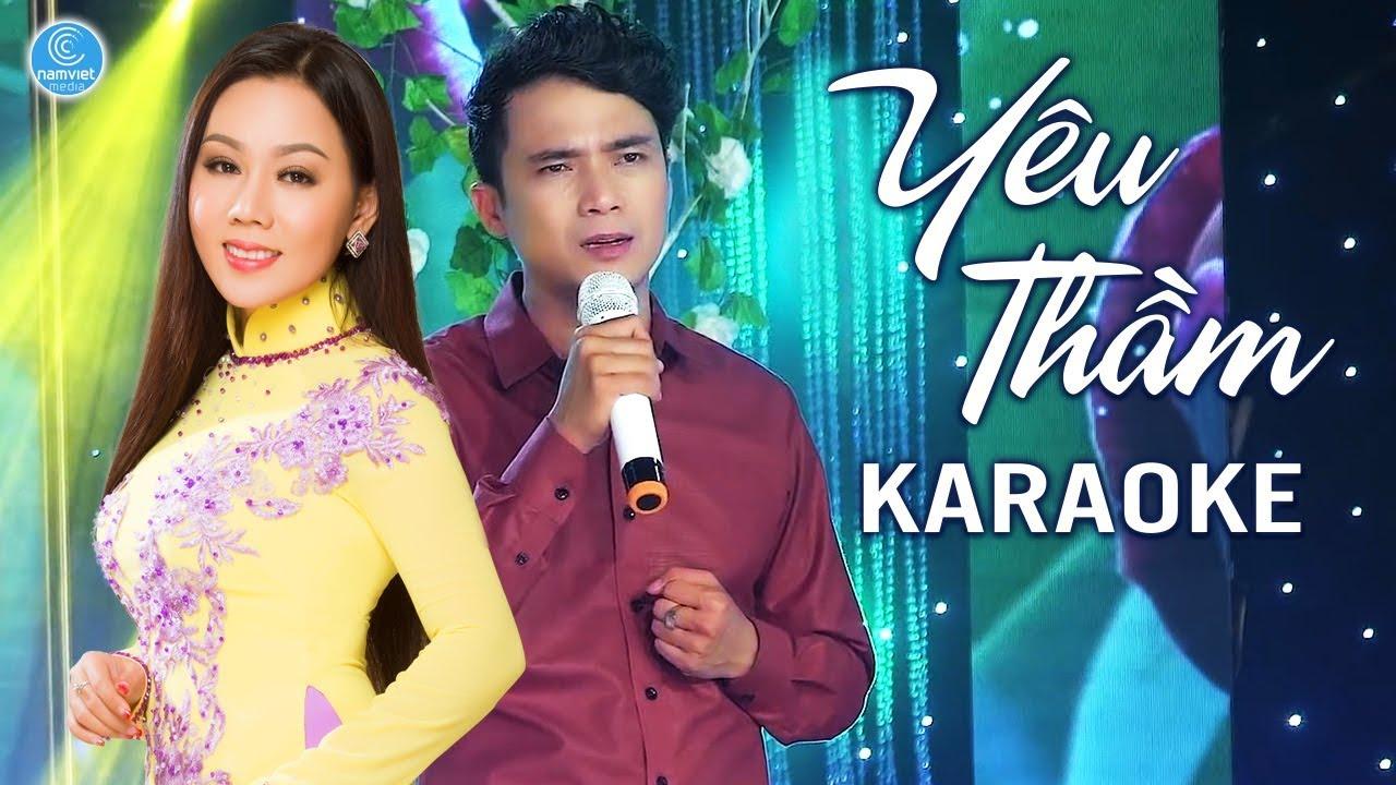 Yêu Thầm - Lê Sang Ft Lưu Ánh Loan - Karaoke