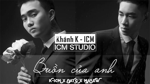 Buồn Của Anh - K-ICM ft Đạt G ft Masew - Karaoke
