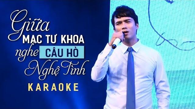 Giữa Mạc Tư Khoa Nghe Câu Hò Nghệ Tĩnh - Lê Sang - Karaoke