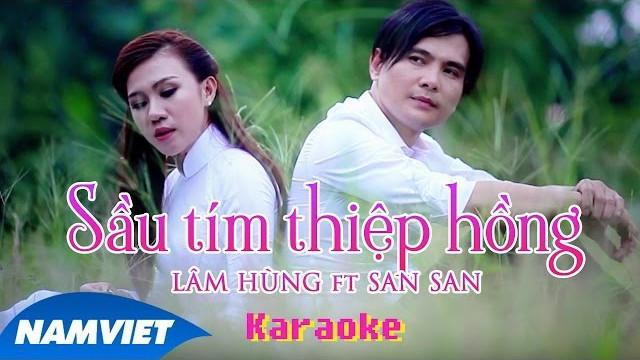 Sầu Tím Thiệp Hồng - Lâm Hùng - Karaoke
