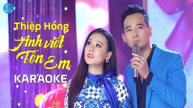 Thiệp Hồng Anh Viết Tên Em - Lưu Ánh Loan ft  Đoàn Minh - Karaoke