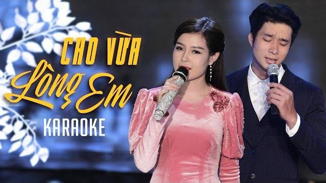 Cho Vừa Lòng Em - Châu Giang ft Mạnh Đồng - Karaoke