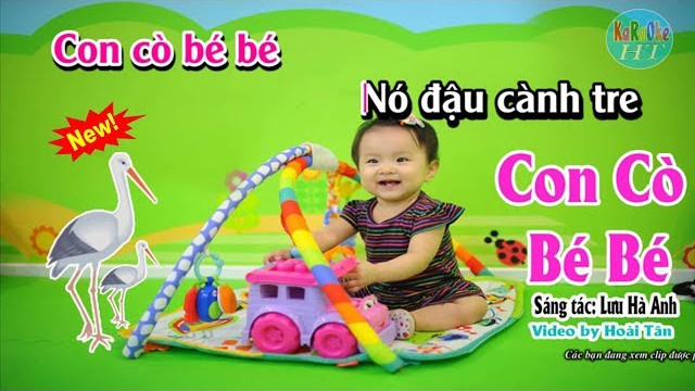 Con Cò Bé Bé - Bé Xuân Mai - Karaoke