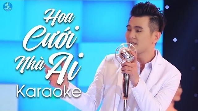 Hoa Cưới Nhà Ai - Lâm Hùng - Karaoke