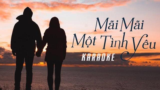 Mãi Mãi Một Tình Yêu - Đan Trường - Karaoke
