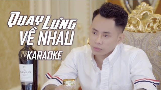 Quay Lưng Về Nhau - Lê Bảo Bình - Karaoke