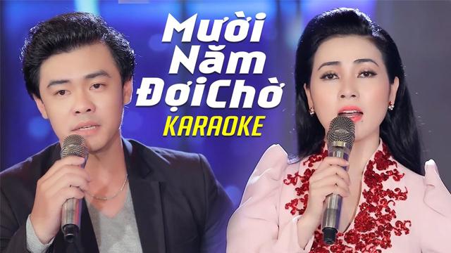 Mười Năm Đợi Chờ - Diễm Thùy ft Lê Huy - Karaoke