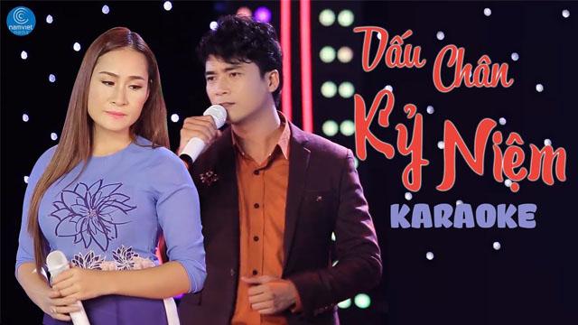 Dấu Chân Kỷ Niệm - Lê Sang ft Giáng Tiên - Karaoke