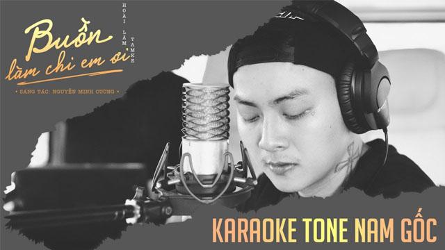 Buồn Làm Chi Em Ơi (Tone Nam) - Hoài Lâm - Karaoke