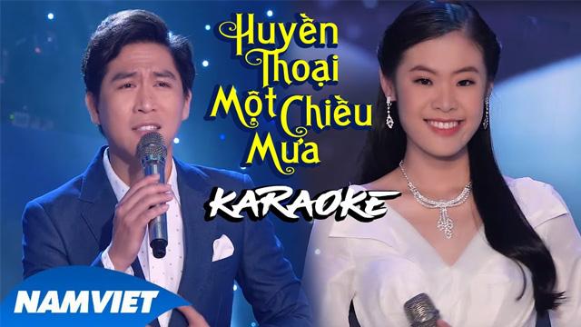 Huyền Thoại Một Chiều Mưa - Tùng Anh ft Quỳnh Như - Karaoke