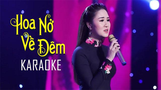 Hoa Nở Về Đêm - Lê Thu Uyên - Karaoke