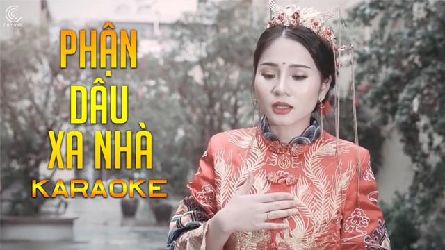 Phận Dâu Xa Nhà - Linh Na - Karaoke