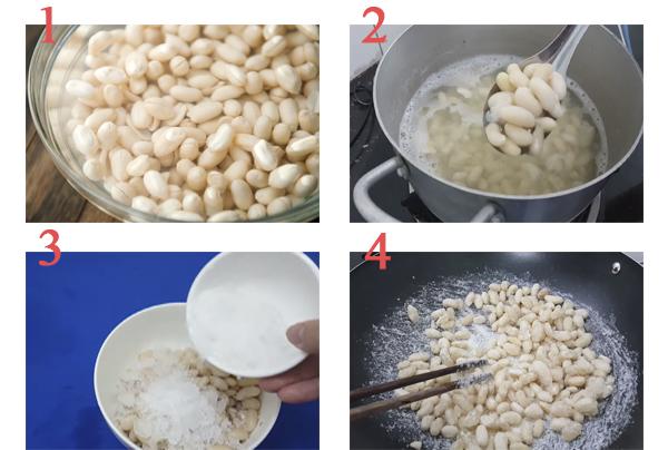 cách làm mứt đậu trắng