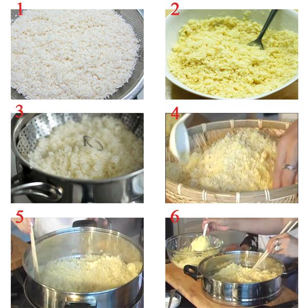 cách nấu xôi vò với nước cốt dừa
