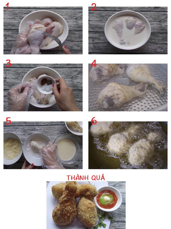 cách làm món gà chiên xù tại nhà