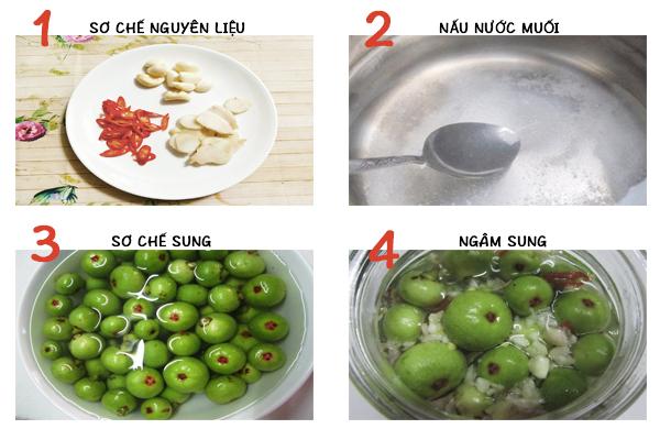 cách làm món sung ngâm muối