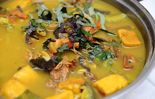 cách làm món ếch om chuối đậu