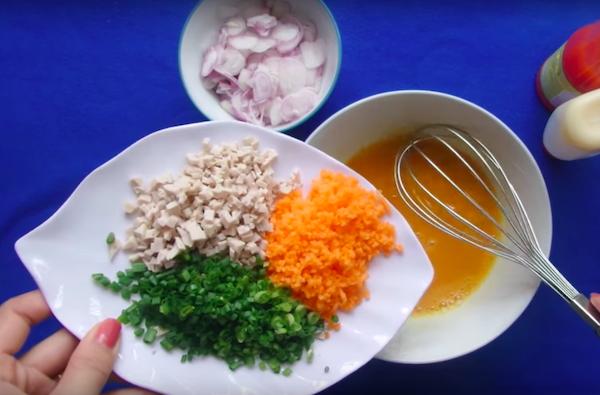 cách làm món trứng chiên hành phi