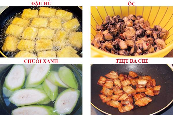 Cách làm món ốc om chuối đậu