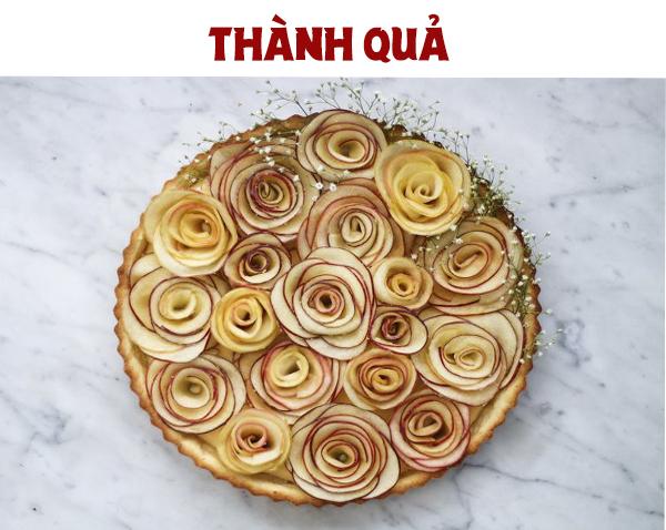 Cách làm bánh Tart Táo Hoa Hồng lạ miệng, đẹp mắt