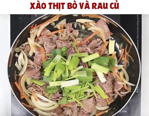 Cách làm món bún trộn thịt bò xào đơn giản, đủ chất cho ngày cuối tuần
