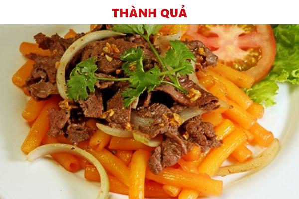 Các món bò xào ngon miệng thay đổi thực đơn bữa ăn đình bạn
