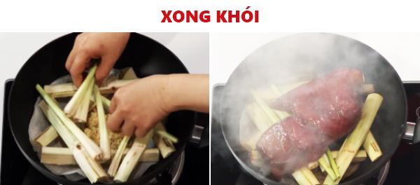 Món ngon mỗi ngày: Cách làm món thịt heo xong khói đậm đà hương sả