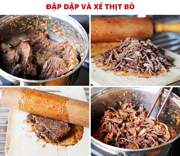 Cách làm món thịt bò ướt ngọt, cay, ngon như Hàng Giấy