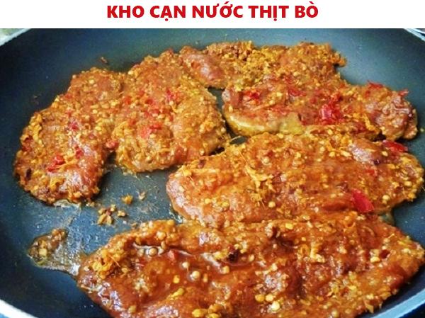 làm khô thịt bò trên chảo không cần lò nướng
