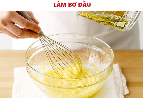 Cách làm bơ dầu cho món bánh tráng cuốn bơ