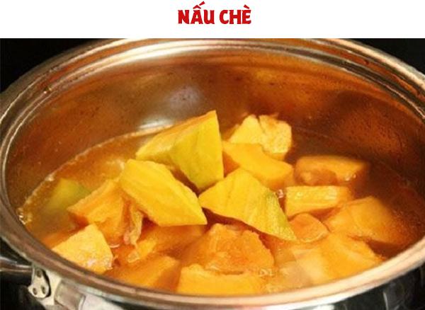 Cách nấu chè bí đỏ đậu xanh