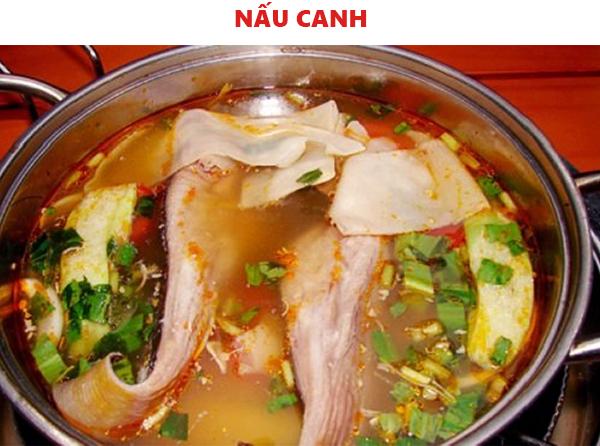 Cách nấu canh chua cá đuối không bị tanh
