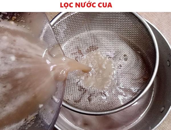 Cách lọc nước cua nguyên chất