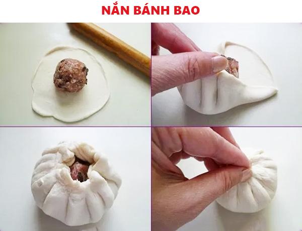 Cách nắn bánh bao
