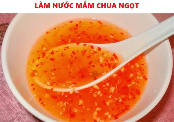 Cách làm nước mắm chua ngọt